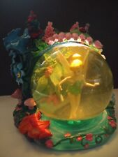 Disney Store TINKERBELL FAIRYLAND Musical & Light Up Snowglobe YOU CAN FLY w Box