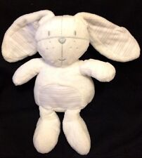 Next UK Bunny Rabbit White Stripe Lovey Plush Comforter Soft Toy Soother Stuffed