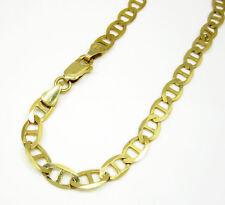 "4.8Grams 5.2mm 8.50"" Mens 10k Yellow Gold Mariner Anchor Cuban Bracelet"