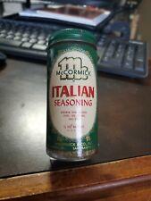 Vintage 1950-60s NOS Full McCormick Jar Bottle - ITALIAN SEASONING