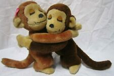 Vintage 1975 Dakin plush hugging monkeys stuffed animals