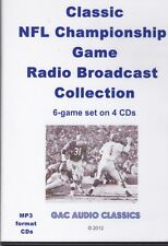 Classic NFL Championship Game Radio Broadcast Collection, 6 games, 4 CDs MP3