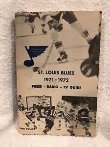 VINTAGE St. Louis Blues 1971-72 Press Media Guide, VERY NICE!