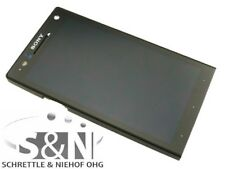 Original Sony Xperia S LT26i Display lcd frame touchscreen glas black