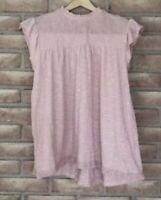 Jolt Women's Cap Sleeved, Smocked Top/Shirt-pale pink Boho Size Medium