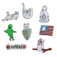 Cute Funny Cat Alien Enamel Collar Pins Badge Corsage Cartoon Brooch Jewelery SF