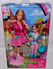 NEW-2012-2 SET BARBIE & STACIE A PONY TAIL DOLLS-RIDING FASHIONS-TROPHY, RIBBON+