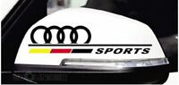 ☆New☆ A Pair Amazing Rearview Mirror Car stickers Decals Graphic For Audi(Black)