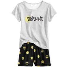 9fa8ea1cc1 Family Pajamas Girls Sunshine Top and Boxer Shorts Pajama Set Size 2t-3t
