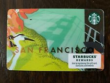 "STARBUCKS City 2014 Gift Card /""San Francisco/"" Brand New Not Registered"