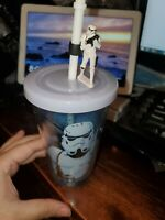Star Wars stormtrooper cup with straw Brand New Authentic Original Disney Store