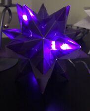 lila großer Bascetta//Origami Stern mit Beleuchtung