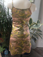 GOOD LOOK robe bretelle courte polyamide imprimé army  sexy Taille 38