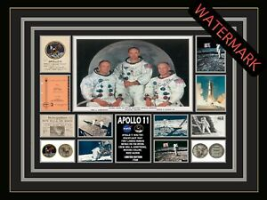 APOLLO 11 - NEIL ARMSTRONG - ALDRIN -LIMITED EDITION SIGNED & FRAMED MEMORABILIA