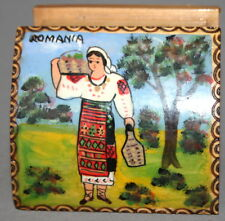 ROMANIAN FOLK HAND MADE PAINTED WOOD BOX