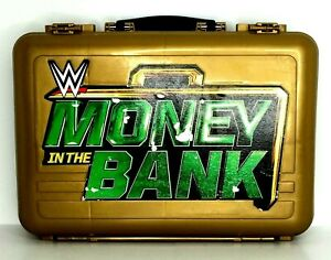 WWE Gold Money In The Bank Collector Action Figure Carry Case Mattel See Photos