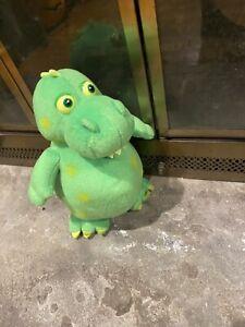 """2004 Princess Soft Toys Green Dinosaur 12"""" Plush!!"""