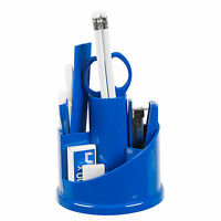 6 x 12pc Office Stationery Organiser Set Rotating Desk Tidy Pen Holder Accessory