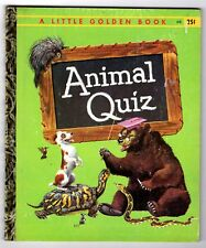 "ANIMAL QUIZ ~ 1st ""A"" ed. Little Golden Book #396 ~ many vintage childrens books"