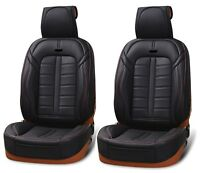 Deluxe Black PU Leather Front Seat Covers Cushion For Dacia Duster Logan Sandero