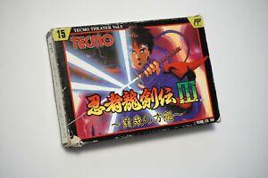 Famicom Ninja Gaiden Ninja Ryukenden 3 boxed Japan FC game US Seller