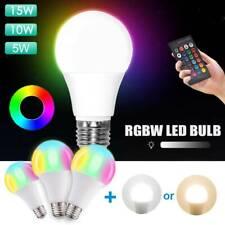 E27 Rgbw светодиодный лампочка 5/10/15W ИК-пульт дистанционного управления регулируемая яркость меняющий цвет лампа ~