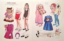 Vintage Pat Stall Caroline & her Clothes & Toys from 1986 Paper Doll Uncut