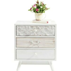 Vivid French Contemporary Mango Wood bed side lamp table White (MADE TO ORDER)