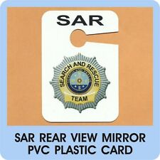 SAR Search and Rescue Parking Tag & Water Urban Mountain K9 Ground Air Car  D 10