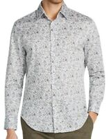Tallia Sport Mens Shirt White Green Size Small S Button Down Floral $88 367