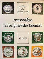 RECONNAITRE LES ORIGINES DES FAIENCES PAR C. DAUGUET ET D. GUILLEME-BRULON