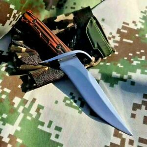 """Drop Point Knife Fixed Blade Hunting Wild Combat Tactical Survival G10 Handle 4"""""""