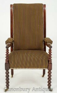 William IV Arm Chair Rosewood Bobbin