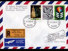 """ENVELOPPE Timbrée """"NATIONS UNIES"""" Oblitération postale AEROPORT PARIS-ORLY 1983"""