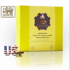 Zesta Ceylon Black TeaCONNOISSEUR JASMINE GREEN 100 Envelope tea Bags Gift Box