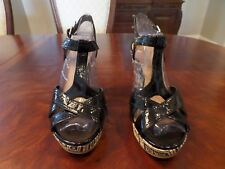 Women's KENNETH COLE REACTION BLACK AND TAN SHOES-  SIZE 10