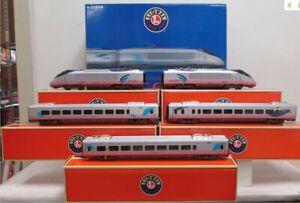 Lionel 6-31714 Amtrak Acela O Gauge Electric Train Set w/Railsounds 5.0 EX/Box
