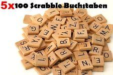 5 X Scrabble 100 Holz Buchstaben & Zahlen Ersatzteile Spielzubehör Brettspiel