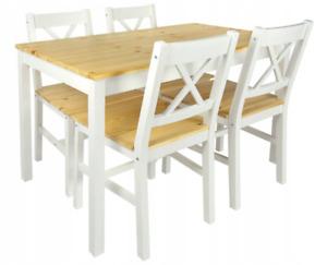 Esstisch mit 4 Stühlen Küchentisch Esszimmertisch Kiefernholz 108x65 cm