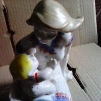Sowjetische Mutter Frau mit Kind UdSSR Russische PorzellanFigur Vintage 3549d