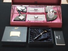 Montblanc Limited Edition Lalique Crystal Writing Desk Set w/ 149 Fountain Pen