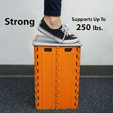 Heavy Duty Step Stool With Storage Box – Durable Portable Plastic Garage Box