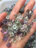 1/4lb 8-13mm Natural beautiful Fluorite Crystal Octahedrons Rock Specimen China