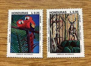 *Honduras 1993 FAUNA Deer Bird Parrot Yv.A809/10 MNH