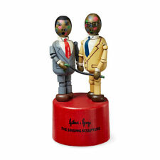 Gilbert & George Singing Sculpture Wooden Toy ~ NIB