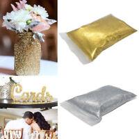 Glitter Gold/Silver Dust Powder Pots Set Nail Art Tips Wedding Party DIY Decor