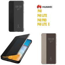 Custodia Huawei P40 Lite Pro Lite E Originale Smart View Flip Cover Slim a Libro