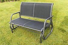 Henley Rocking Garden Bench Swing Seat in Charcoal Grey