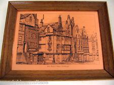 John Knox's House, Edinburgh Copper Etchmaster Original Framed Ready to Hang