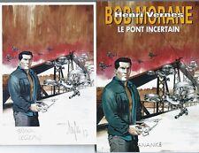 EO BOB MORANE HC 55 MYTHIC + EX LIBRIS SIGNÉ FRANK LECLERCQ : LE PONT INCERTAIN